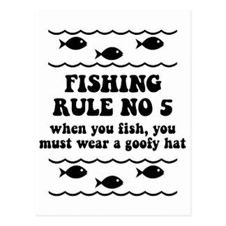 Regla ningunos de la pesca 5 postal