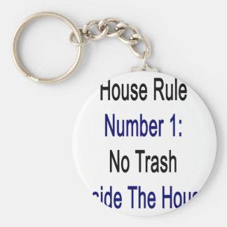 Regla número 1 de la casa ninguna basura dentro de llaveros