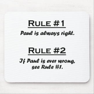 Regla Paul Tapete De Ratones