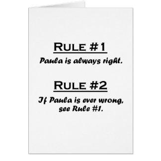 Regla Paula Tarjeta Pequeña
