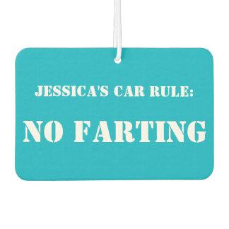 Regla personalizada del coche: Ningún ambientador