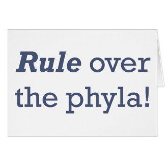 Regla/Phyla Tarjeta De Felicitación