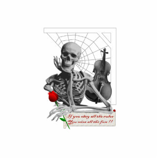 Regla que rompe el esqueleto con color de rosa y e esculturas fotográficas