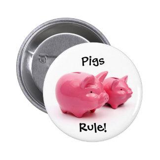 ¡Regla rosada de los cerdos! Pins