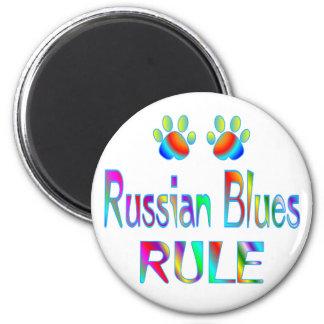 Regla rusa de los azules iman para frigorífico