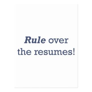 ¡Regla sobre los curriculums vitae! Tarjeta Postal