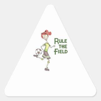 Regla The Field Pegatina Triangular