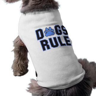 Regla W/Pawprint de los perros Playera Sin Mangas Para Perro