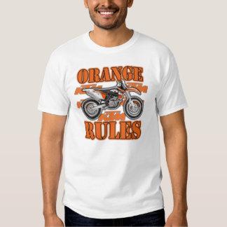 Reglas anaranjadas camisas