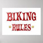Reglas Biking Posters
