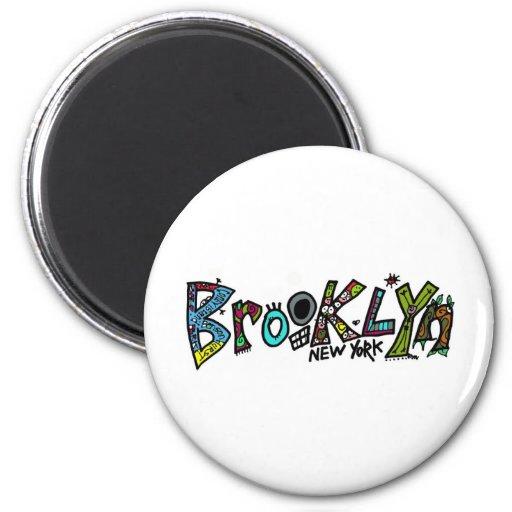 ¡Reglas de Brooklyn! en apenas alrededor de cualqu Imán Redondo 5 Cm