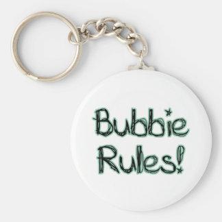 Reglas de Bubbie Llavero Redondo Tipo Pin