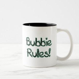 Reglas de Bubbie Taza Dos Tonos