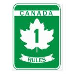 Reglas de Canadá Tarjeta Postal