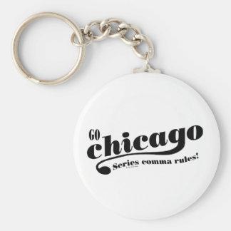 Reglas de Chicago Llavero Redondo Tipo Pin