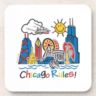 Reglas de Chicago Posavasos De Bebidas