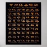 Reglas de Chun del ala del hombre del IP de conduc Posters