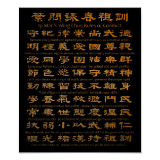 Reglas de Chun del ala del hombre del IP de