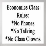 Reglas de clase de Economcis ningunos teléfono no  Posters