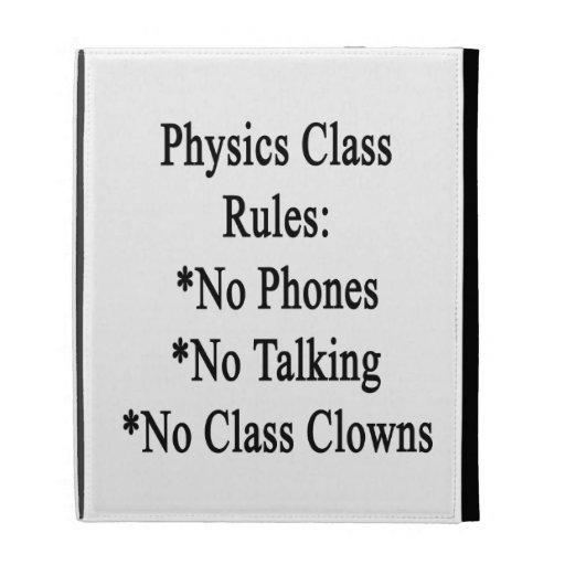 Reglas de clase de la física ningunos teléfono no