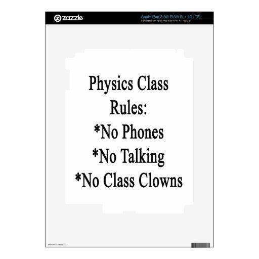 Reglas de clase de la física ningunos teléfono no  iPad 3 pegatinas skins