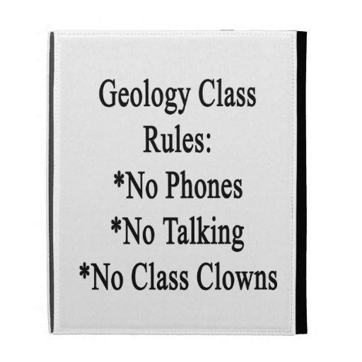Reglas de clase de la geología ningunos teléfono n