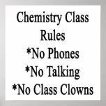 Reglas de clase de química ningunos teléfono no ha impresiones
