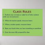 Reglas de clase posters