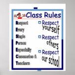 Reglas de clase: Respecto Poster