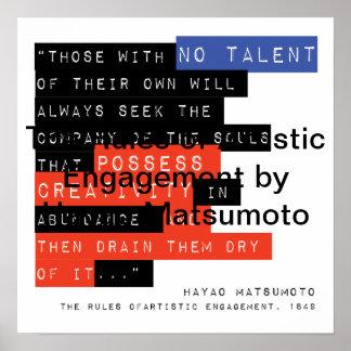 Reglas de compromiso artístico de Hayao Matsumoto Póster