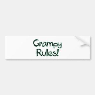 Reglas de Grampy Etiqueta De Parachoque