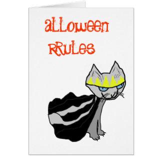 Reglas de Halloween con rey Kitty Felicitación