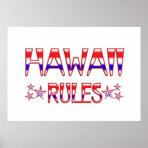 Reglas de Hawaii Impresiones
