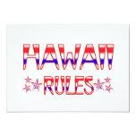 Reglas de Hawaii Invitación 12,7 X 17,8 Cm