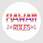 Reglas de Hawaii Pegatina Redonda