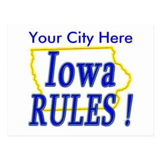 ¡Reglas de Iowa! Postales
