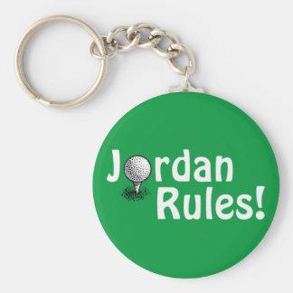 ¡Reglas de Jordania! Llavero Redondo Tipo Pin
