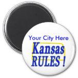 ¡Reglas de Kansas! Imán De Nevera