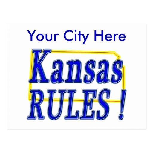 ¡Reglas de Kansas! Tarjeta Postal