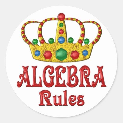 Reglas de la ÁLGEBRA Etiqueta