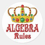 Reglas de la ÁLGEBRA Pegatina Redonda