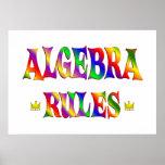 Reglas de la álgebra posters