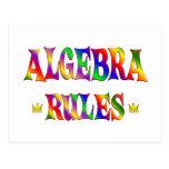 Reglas de la álgebra tarjeta postal