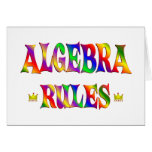 Reglas de la álgebra tarjetas