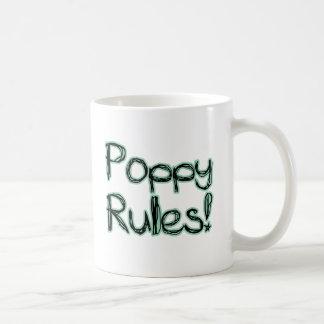 ¡Reglas de la amapola! Taza De Café