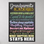 Reglas de la casa de los abuelos póster