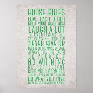 Reglas de la casa poster