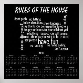 Reglas de la casa impresiones