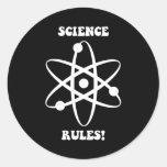 reglas de la ciencia etiqueta redonda