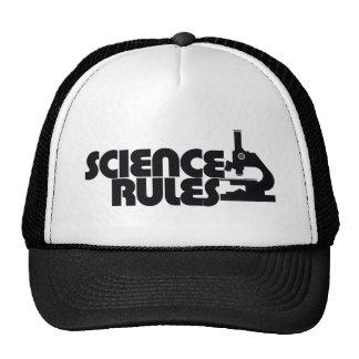 Reglas de la ciencia gorras de camionero